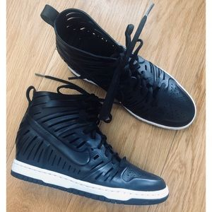 Nike Laser Cutout Wedge Sneakers
